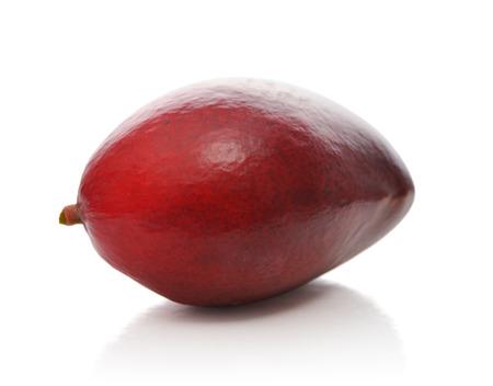 Ripe mango fruit isolated on white background