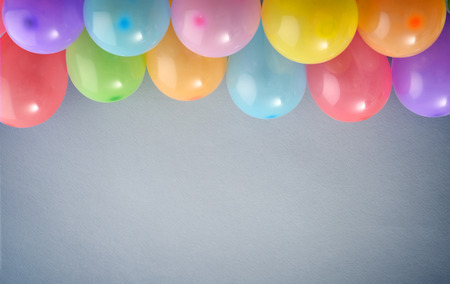 wall decor: Colorful festive balloons on blue background