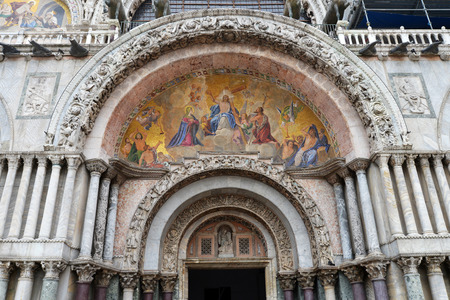 cattedrale: The Patriarchal Cathedral Basilica of Saint Mark at the Piazza San Marco - St Marks Square, Venice Italy.