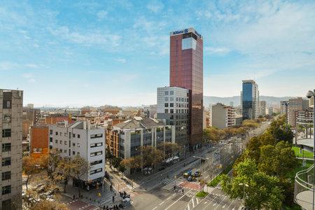 plaza de toros: BARCELONA, SPAIN - April 15, 2017: View From Arenas De Barcelona - Plaza de Toros De Las Arenas, Barcelona, Catalonia, Spain, Europe Editorial
