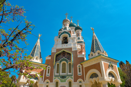 The St. Nicholas Orthodox Cathedral, Russian orthodox church, Nice, France Stockfoto