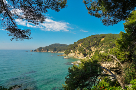 Costa Brava seaview near Lloret de Mar, Catalonia, Spain.