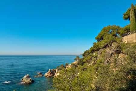 Coast of Lloret de Mar. Costa Brava. Catalonia. Spain. Stock Photo
