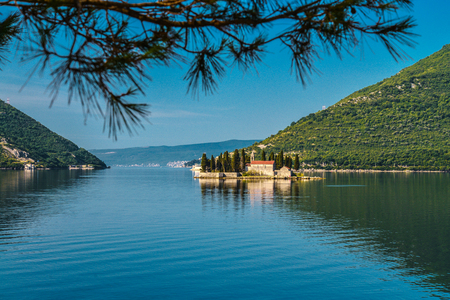 kotor: St.George Island in Montenegro at early morning