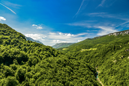 The Tara River and Canyon, and its countryside, in northern Montenegro