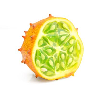 Kiwano fruite isolated on white background