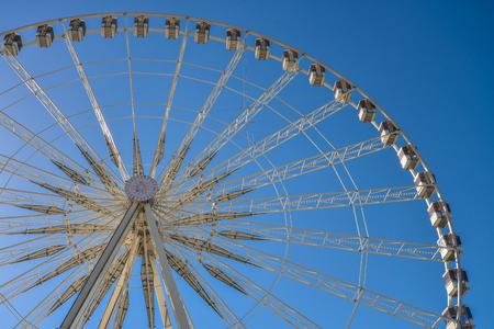 Ferris wheel Roue de Paris on the Place de la Concorde from Tuileries Garden in Paris, France