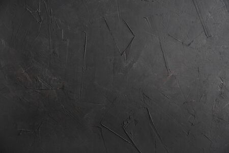 Texture of old black concrete wall for background 스톡 콘텐츠