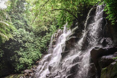 Beautiful  Kanto Lampo Waterfall (air terjun Kanto Lampo) not far from Ubud, Bali, Indonesia