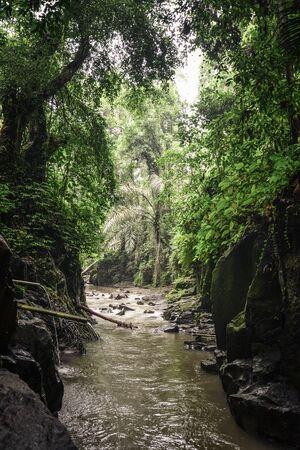 Small river near beautiful  Kanto Lampo Waterfall (air terjun Kanto Lampo) not far from Ubud, Bali, Indonesia 写真素材