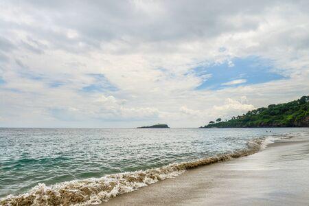 Tropical beach in Bali near Chandidasa, knowen as White Sand Beach 写真素材