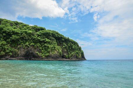 View from Tropical beach in Bali near Chandidasa, knowen as White Sand Beach