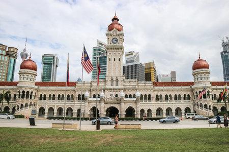 KUALA LUMPUR, MALAYSIA - NOVEMBER 28, 2019: The Sultan Abdul Samad building is located in front of the Merdeka Square in Jalan Raja,Kuala Lumpur Malaysia.
