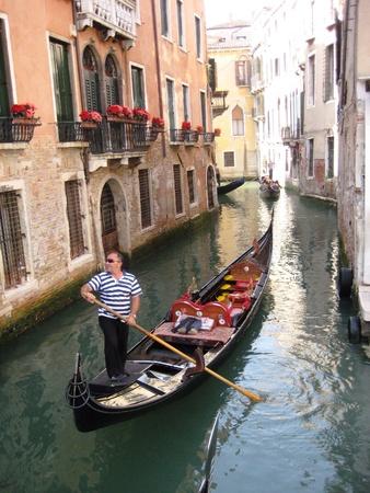 gondolier: Gondolier in Venice Stock Photo
