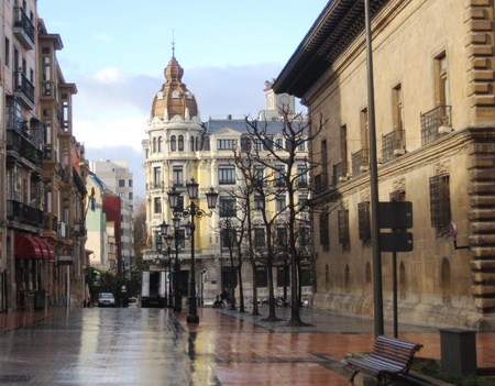 architecture: Street of Oviedo, Spain