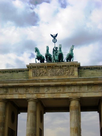 brandenburg gate: Brandenburg gate, Berlin Stock Photo