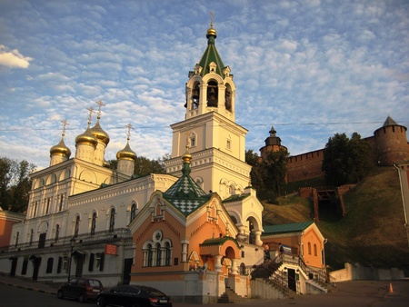nizhny novgorod: Church in Nizhny Novgorod, Russia Stock Photo