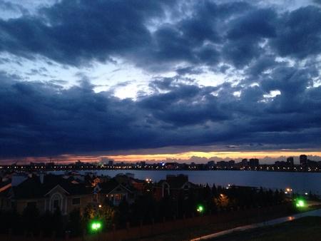 horison: Sky above Kazan Stock Photo