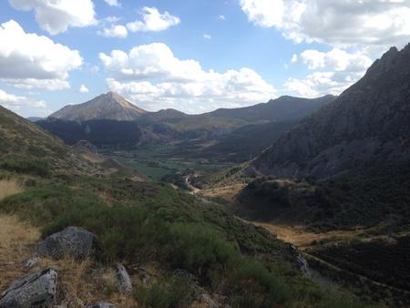 cordillera: Mountains in north of Spain Stock Photo
