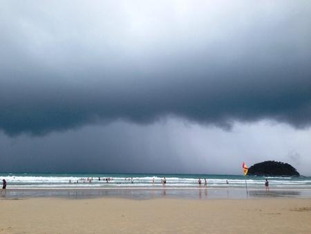 thunderstorm: Thunderstorm above sea