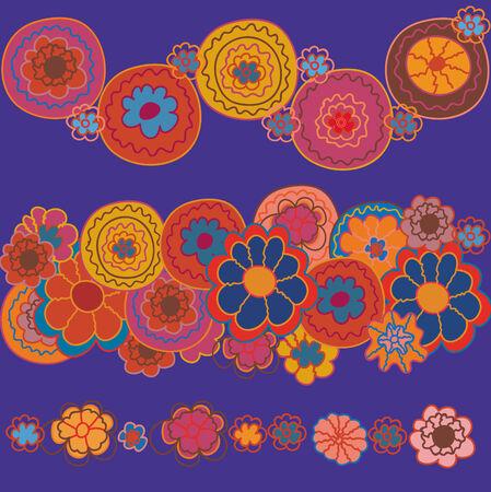 stilish: Floral bright stilish borders and background Illustration