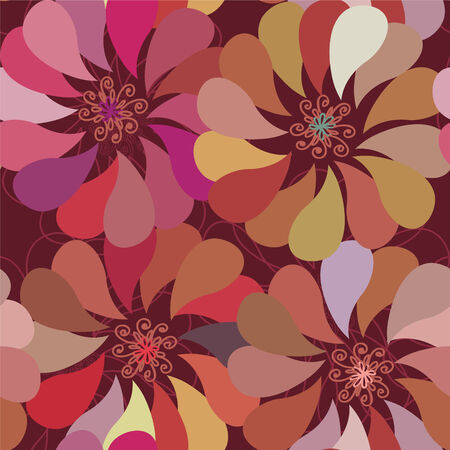 Floral seamless pattern with big  bright stylish flowers Vector