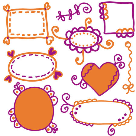 Set of bright hand-drawn frames Stock Vector - 6775519