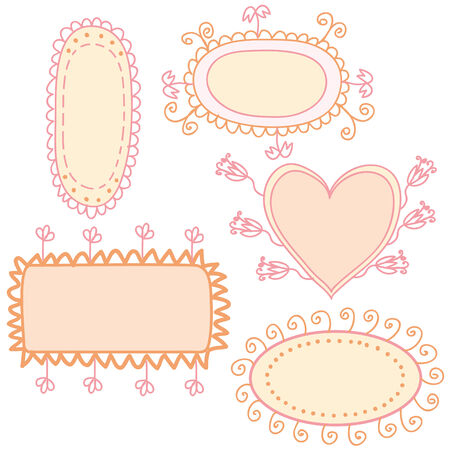 Set of funny banners Stock Vector - 6850079