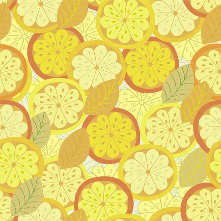 Orange seamless circles bright background Иллюстрация