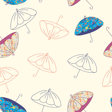 Umbrellas seamless bright funny  pattern Stock Vector - 7937658