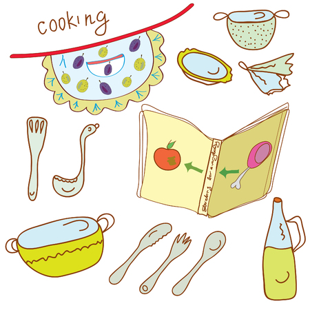 Cooking set with kitchen objects Stock Vector - 8276292