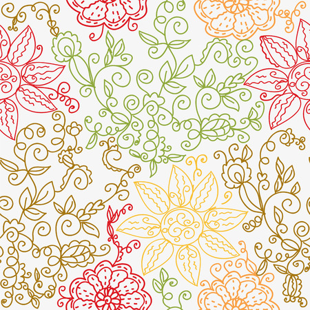 Floral color ornate seamless pattern Stock Vector - 8276334