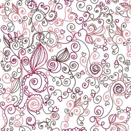 Decoration nature floral seamless pattern Stock Vector - 8276313