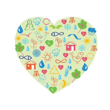 Environmental heart Stock Vector - 8276295