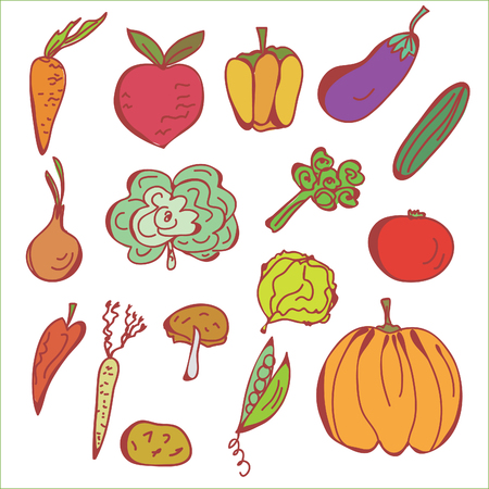 Doodles sketch of vegetables Stock Vector - 8276285