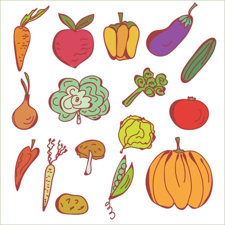 Doodles sketch of vegetables Stock Vector - 8276285