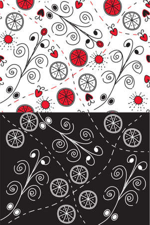 Set of ornate seamless patterns with swirls Vector