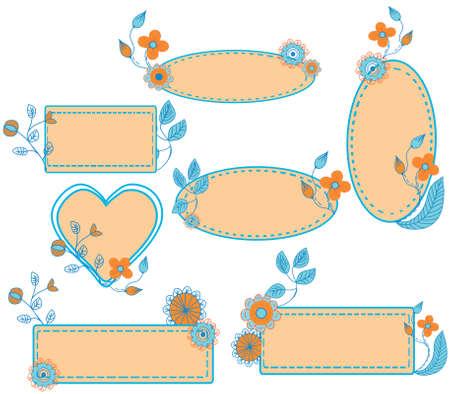 Floral frames set -elegant style Vector
