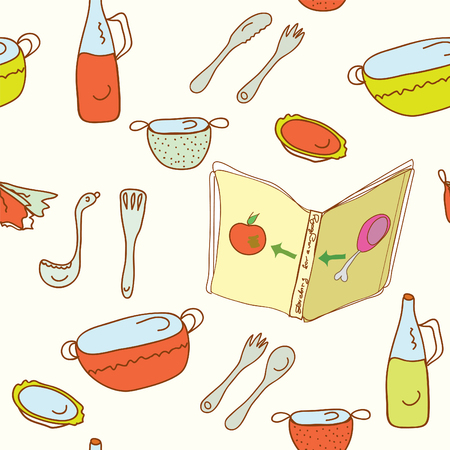 Kitchen cooking seamless pattern Stock Vector - 8357003