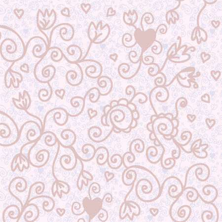 Romantic floral background in pastel colors