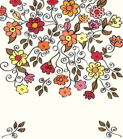 Flowers bright background for the card Stock Vector - 8540580
