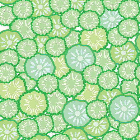 Cucumber seamless funny pattern Stock Vector - 8540601
