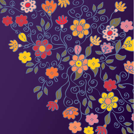 Bright background with color flowers Illustration