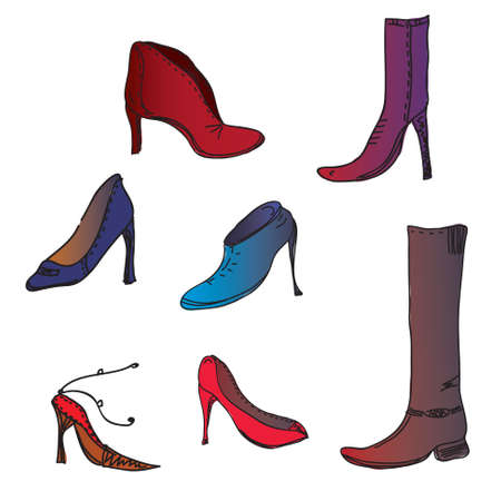 upscale: Fashion shoes of different colors