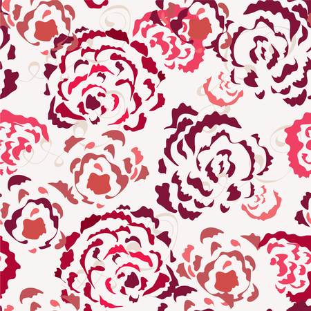Roses seamless wallpaper in red colors Vector