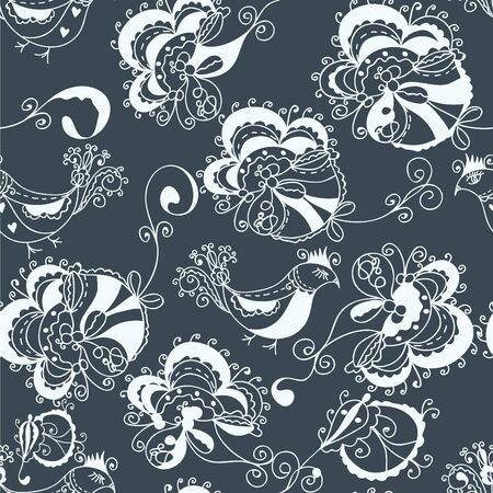 Floral ornate traditional seamless pattern Vector