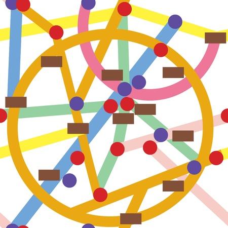 estación del metro: Caricatura de patr�n transparente de metro abstracto