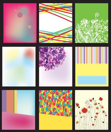 dentist concept: Abstract backgrounds templates set