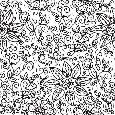 Seamless ornament black wallpaper Vector
