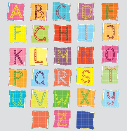 Color alphabet for children cartoon Vector